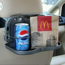 Universal folding car back seat table drink coffee water cup holder meal trey