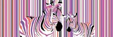 ZEBRAS IN COLOURED STRIPES BARCODE DOOR POSTER (53x158cm)  NEW WALL ART