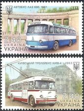Ukraine 2015 Trolley Bus/Lviv Bus Factory/Kiev Public Transport 2v set (n44104)