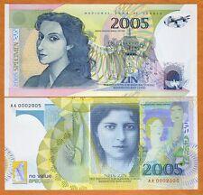 Serbia, Polymer Test Note, 2005, Specimen, Milena Pavlovic Barilli   Type 2