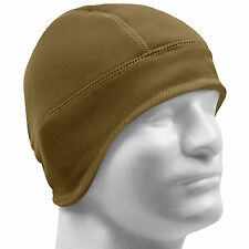 Rothco Arctic Fleece Lined Tactical Beanie Hat Watch Cap Helmet Liner Coyote NEW