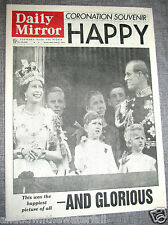 1953 QUEEN ELIZABETH II CORONATION Retro Vintage Newspaper Antique Old London UK