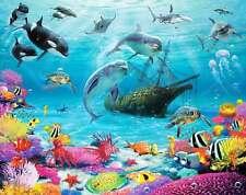 Fototapete Delfine Fische Meereswelt Unterwasserwelt Wandtapete NEUES DESIGN