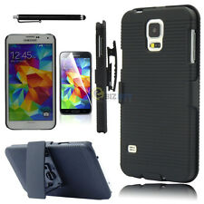 Hard Case Cover Belt Clip Holster W/stand For Samsung Galaxy S5 S V i9600 G900