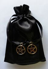 Gold Star Pentacle Black Mini Tarot Bag