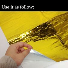 Gold Reflective Sheet For Car Firewall Hood Heat Shield  Barrier 20'' x 20''