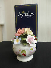 Aynsley Bone China Hand Made & Hand Painted Cherry Blossom Floral Cascade Bowl