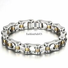 10mm Motorcycle Chain Men's Stainless Steel Bracelet Mechanical Link Chain