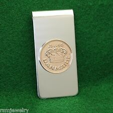 Danish Royal Crown Coin Money Clip, Bronze 50 ore Denmark Danmark