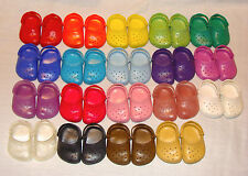 "DOLL CROC SANDALS GARDEN CLOGS SHOES - ORANGE - FITS AMERICAN GIRL 3"" X 2"""