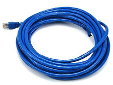 25FT 24AWG Cat6A 500MHz STP Ethernet Bare Copper Network Cable - Blue