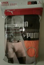 "MEN'S NEW PUMA 3 PACK PREMIUM BOXER BRIEFS SIZE LARGE (36-38"") 6 130"