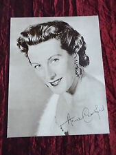 "ANNE CRAWFORD - TV/FILM STAR - ""1 PAGE PICTURE "" - CLIPPING/CUTTING"