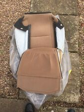 Saab 9-5 Front Seat Back Cover in Beige/Taupe fabric Saab part number 5128541