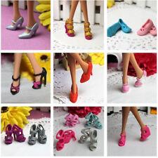 10PCS Para Barbie Muñeca Zapatos de moda para fiestas uso diario vestidos trajes ropas Acc