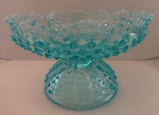 PRE-LOGO Fenton Glass - Hobnail Blue Opalescent Epergne Base  Base Only - No Top