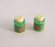 PLAYMOBIL (R1122) COMMERCE - Lot de 2 Bocaux de Petits Poids Carottes
