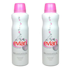2 Pcs 5oz 150ml evian Facial Spray natural mineral water Moisturizes