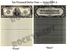 (Lot of 25) Ten Thousand Dollars $10,000 Novelty Bill Notes Charity Event RM1131
