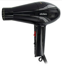 Elchim 2001 Professional Salon Italian Hair Dryer HP High Pressure Blow Black