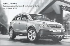 Preisliste Opel Antara 29.1.07 2007 Preise price list Autopreisliste Auto Pkw