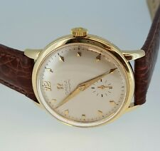 MENS 14k GOLD FILLED OMEGA AUTOMATIC caliber 342 BUMPER! GORGEOUS WATCH