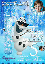 NEUF Invitation Anniversaire Personnalisable Frozen Olaf 8 cartes (A6)