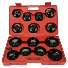 14 Piece Cup Type Oil Filter Wrench Tool Set Car Van Garage Professional