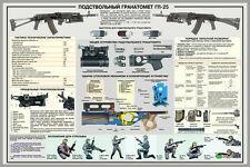 "Russian GRENADE LAUNCHER GUN SMALL ARM 8,5X11 ""Military PRINT POSTER"