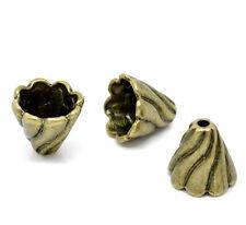Perlkappen  Kappen Beads Perlen Messing filigran 12x13 mm 4 x  von Bacatus