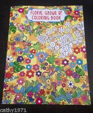 NEW Floral Adult Grown Up Colouring Book #1 - Colour Your Stress Away