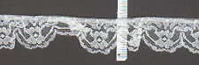 """1"""" wide Gathered white lace trim  (35yds)     (XD607)"""