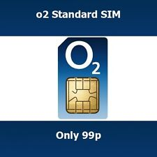 New O2 Pay As You Go SIM Card Can Be Used As Micro Or Standard Size SIM Card