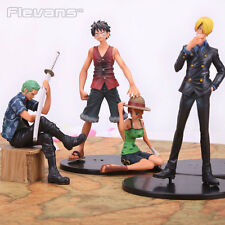 ONE PIECE - SET 4 FIGURAS Luffy, Zoro, Sanji & Nami 9-17cm / 4 FIGURES SET