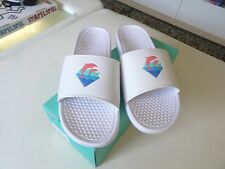 2016 New Pink Dolphin Waves Slides White Size 8 MENS SOLD OUT YEEZY GG SANDALS