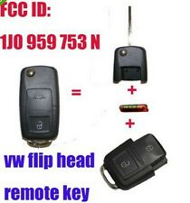 1J0 959 753 N FLIP HEAD KEY REMOTE TRANSMITTER FOR 1998-2000 VW PASSAT GOLF MK4