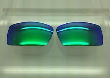 Oakley Gascan Custom Sunglass Replacement Lenses Green Mirror Polycarbonate NEW