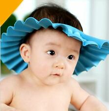 Baby Kids Children Soft Shampoo Bath Shower Cap Hat Wash Hair Shield Blue
