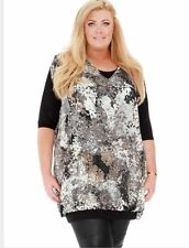BNWT Gemma Collins Sophia 2 in 1 Evening Day Tunic Dress Top Plus Size 22