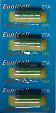 EUNICELL 4 Piles Alcaline 12V A27 27A  Alkaline Mn27 Gp27a L828 El812