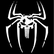 A264 Spider Punisher Skull Spider vinyl decal car truck van suv