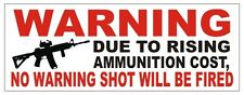 Gun Control Warning Sticker / Label Vinyl Decal USA Bumper 2nd Amendment