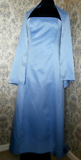 Blue formal bridesmaid evening dress by DEBUT Size 12 With wrap