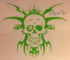Zombie Crazy Tribal Skull One Eyed Jack Mystical Car Truck Window Vehicle Decal