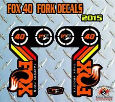 Fox 40 2015 FORK Stickers Decals Graphics Mountain Bike Down Hill MTB