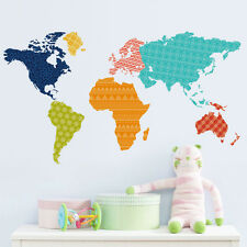 Colorful world map room decor Wall sticker PVC Wallpaper wall decals Great Mural