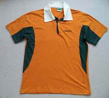 Mens RUGBY Australia cotton Shirt sz L down under pro ball button Aussie T