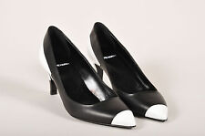 Pierre Hardy NIB $665 Black White Leather Colorblock Pointed Toe Heels SZ 38.5