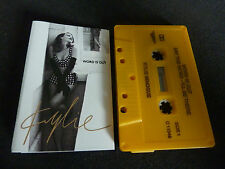 KYLIE WORD IS OUT ULTRA RARE AUSSIE CASSINGLE!