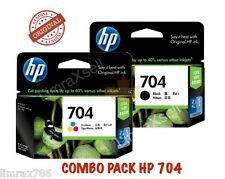 GENUINE HP 704 BLACK & HP 704 TRI COLOR ORIGINAL INK CARTRIDGE COMBO PACK -PROMO